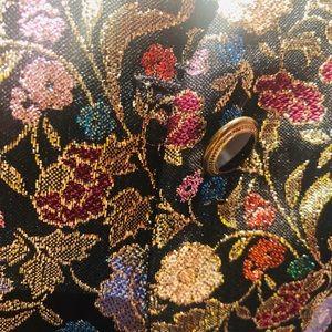 Vintage Jackets & Coats - AMAZING vintage metallic blazer